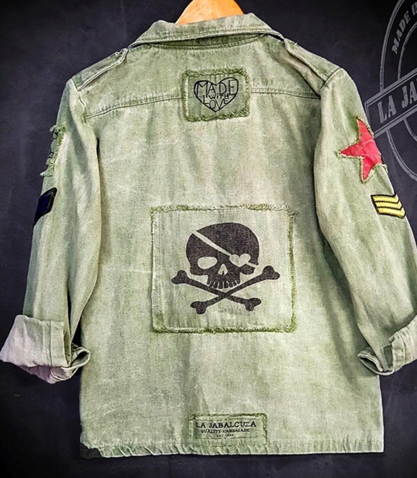 Vintage Army Jacka Grön