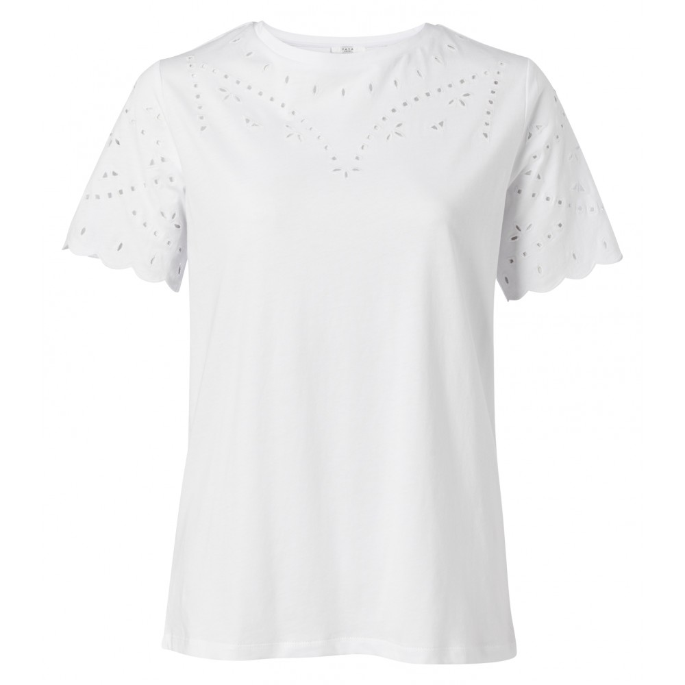 Yaya Cotton T-shirt With Broderie