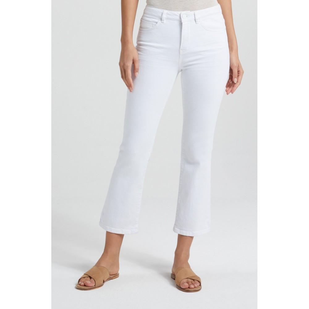 Yaya Mid Waist Jeans Kick Flare