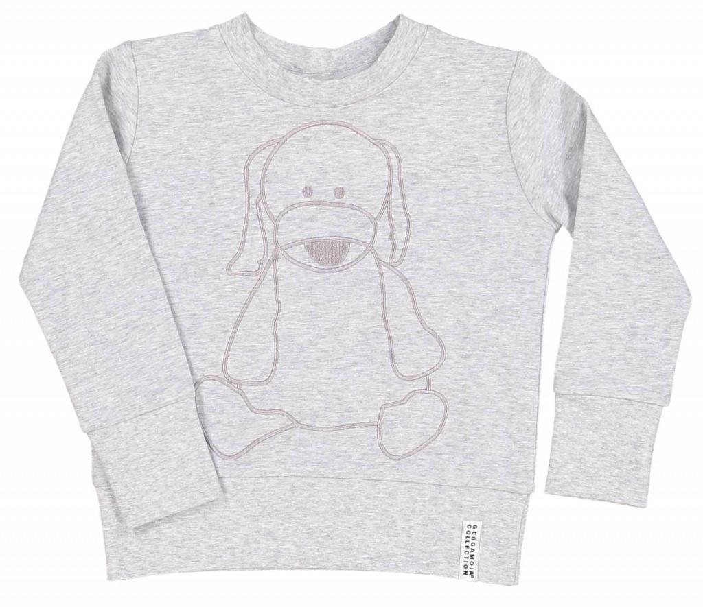 Tröja - College sweater Doddi Grey mel