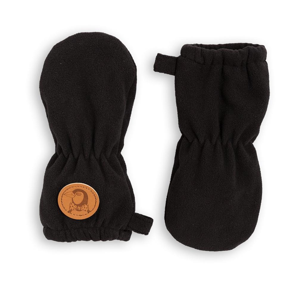 Babyvantar - Fleece svart