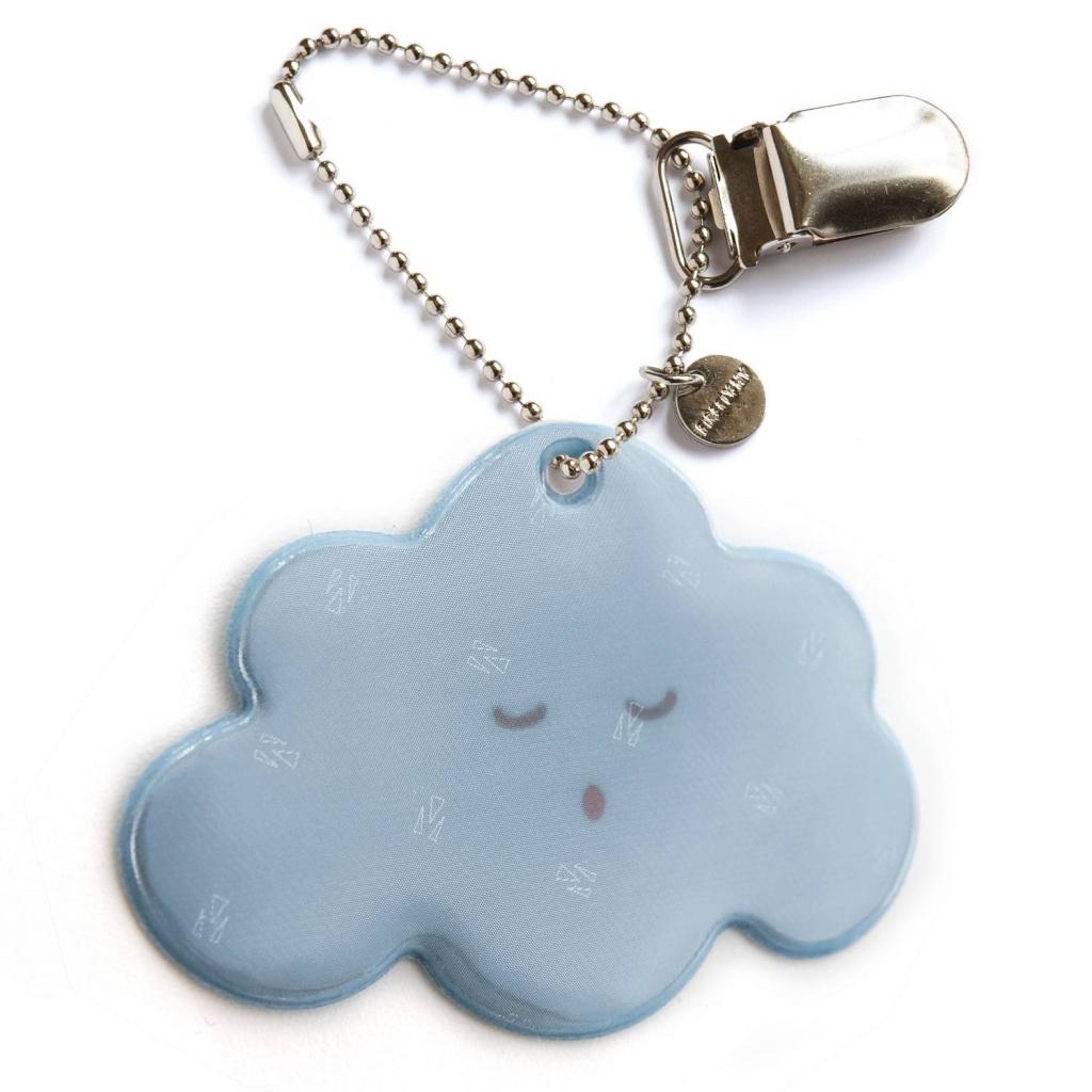 Reflex med clips - blue cloud