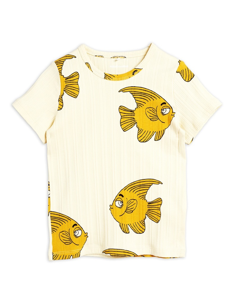 T-shirt - Fish ss Offwhite