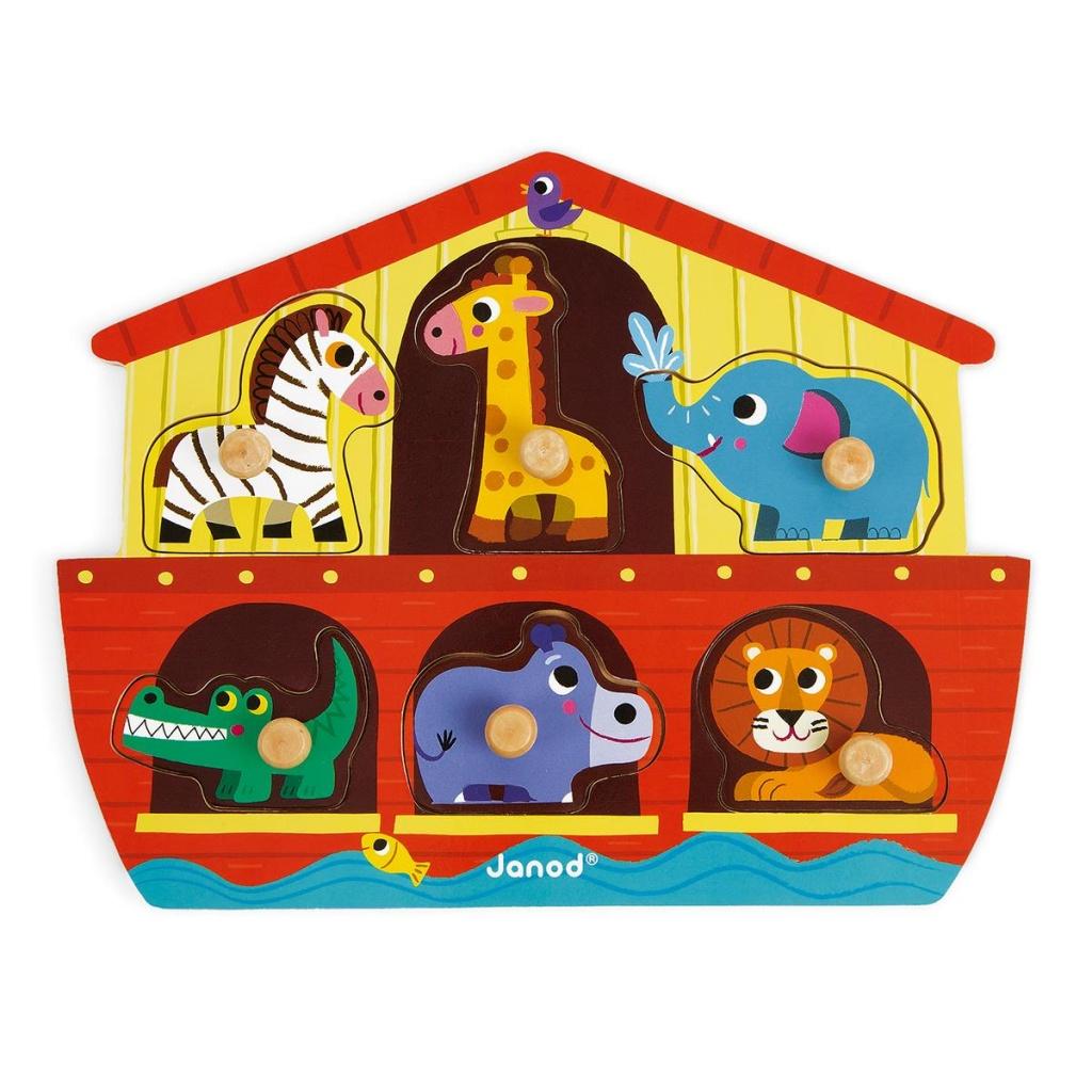 Knopp-pussel i trä - Noah´s Ark