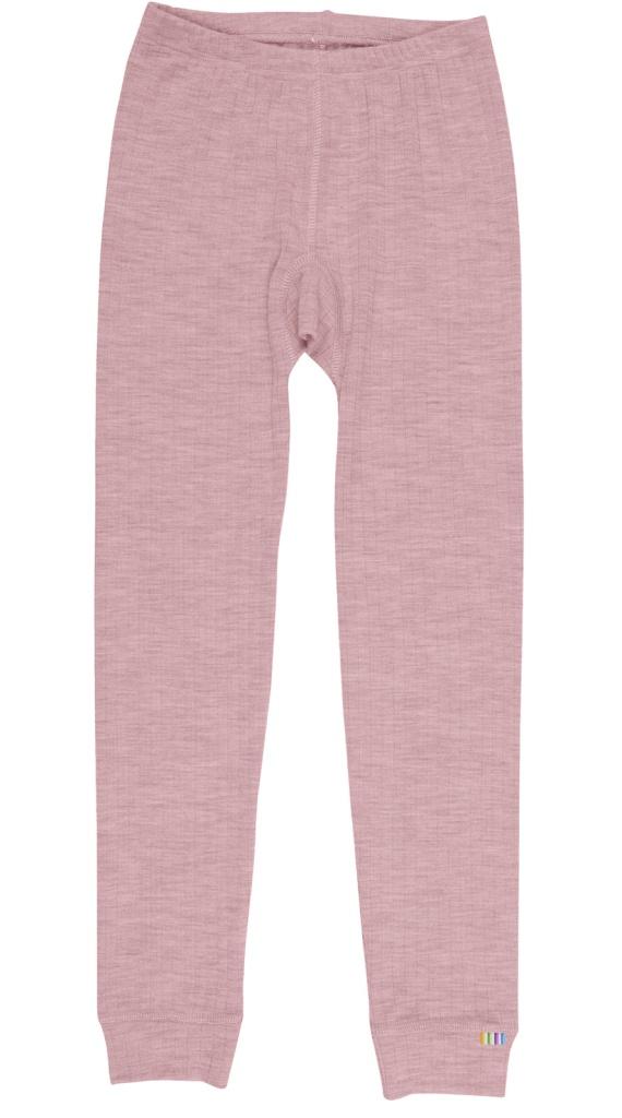 Leggings - underställ rosa merinoull