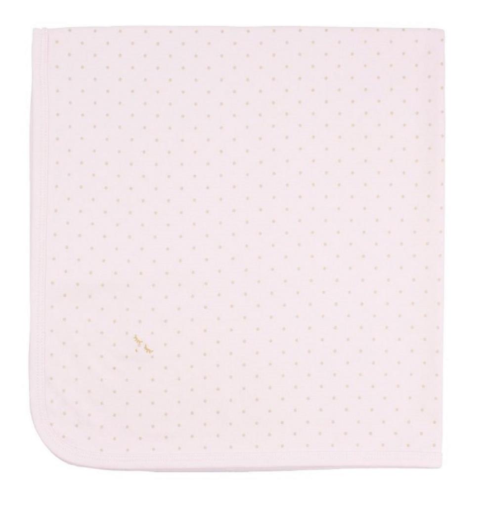 Filt, Saturday blanket Rosa/guld