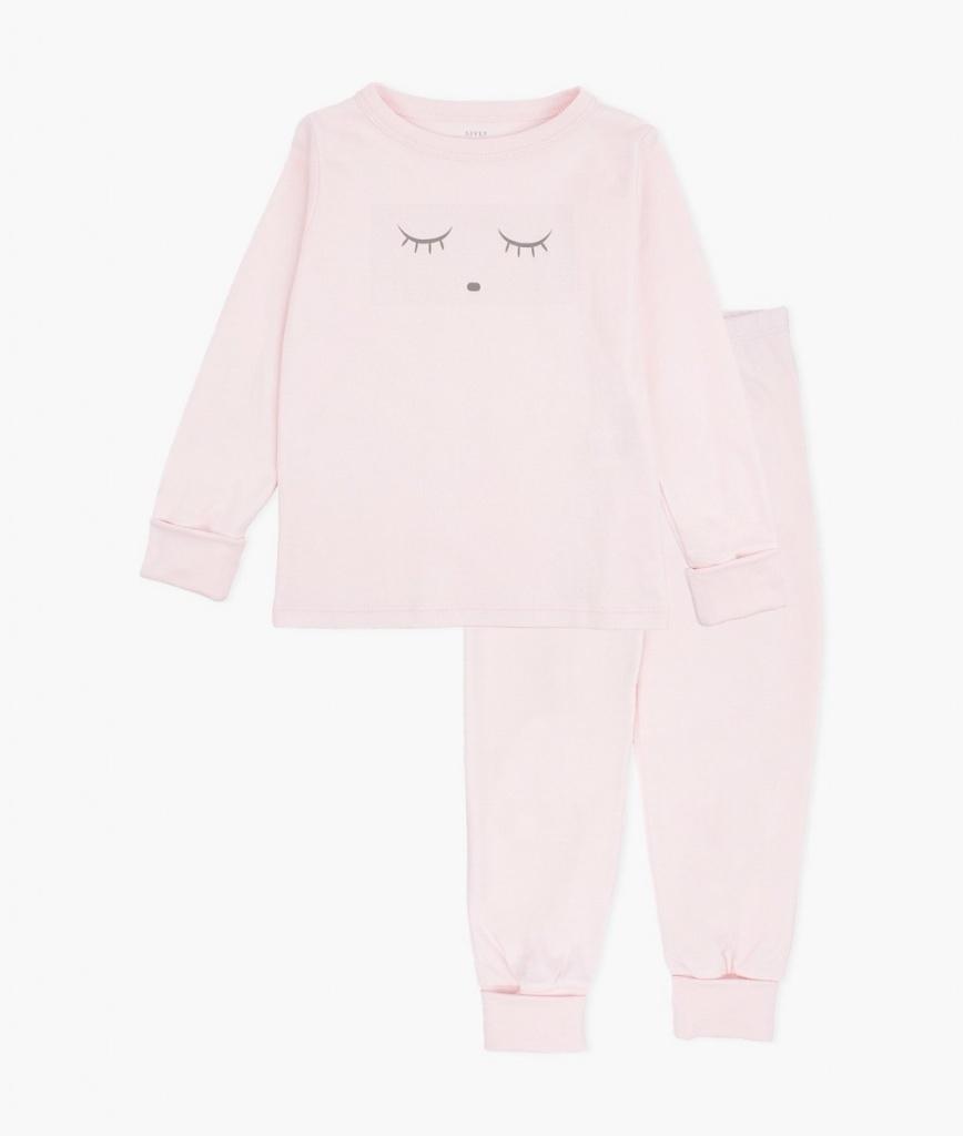 Pyjamas - Sleeping Cutie Rosa/Grå 2-delar