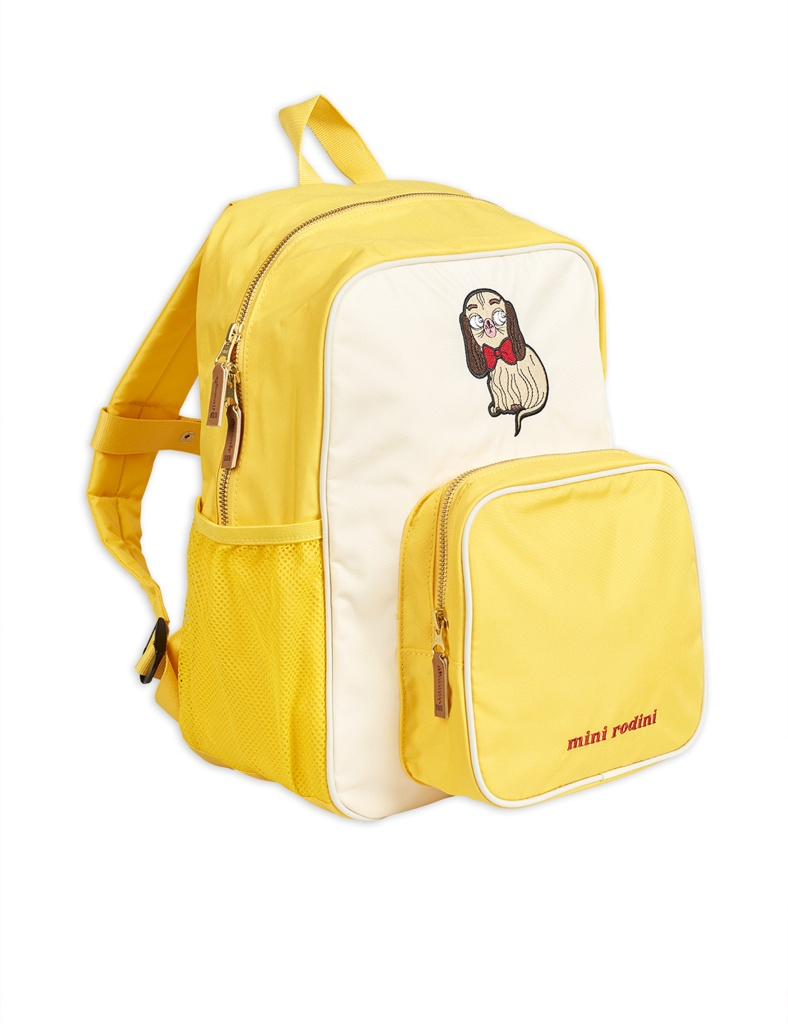 Ryggsäck - Dashing dog school bag Yellow