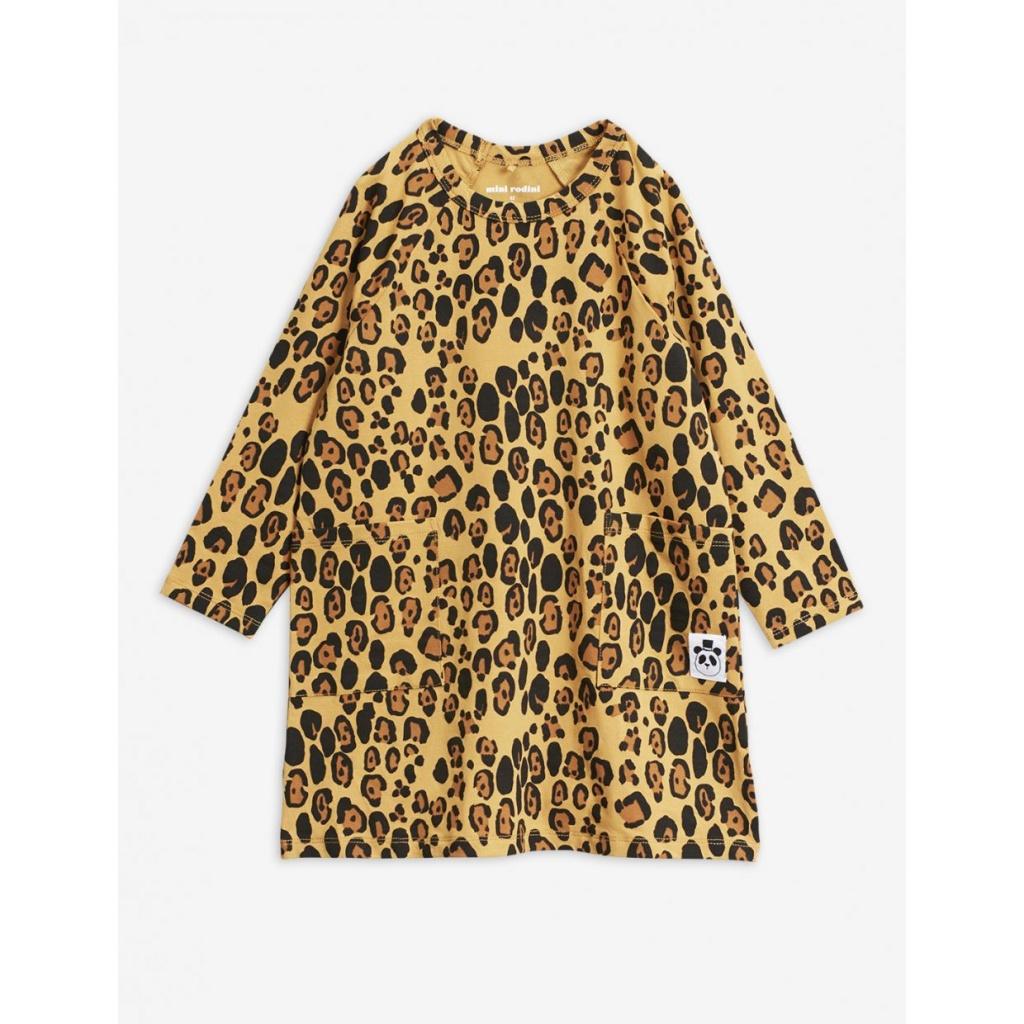 Klänning Basic leopard (Tencel)