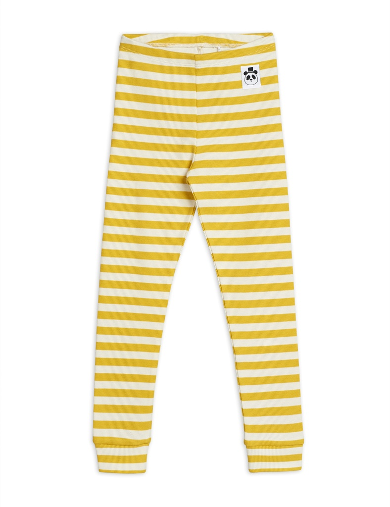 Leggings - Stripe rib (gul)