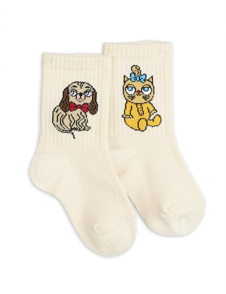 Strumpor - Minibaby socks white single Offwhite