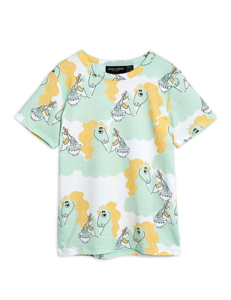 T-Shirt - Unicorn noodles aop ss tee Green