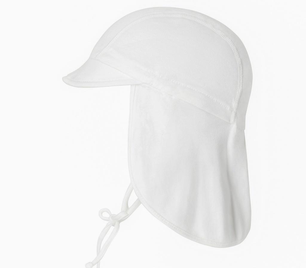 Solhatt med förlängd nacke (vit) UV 50+