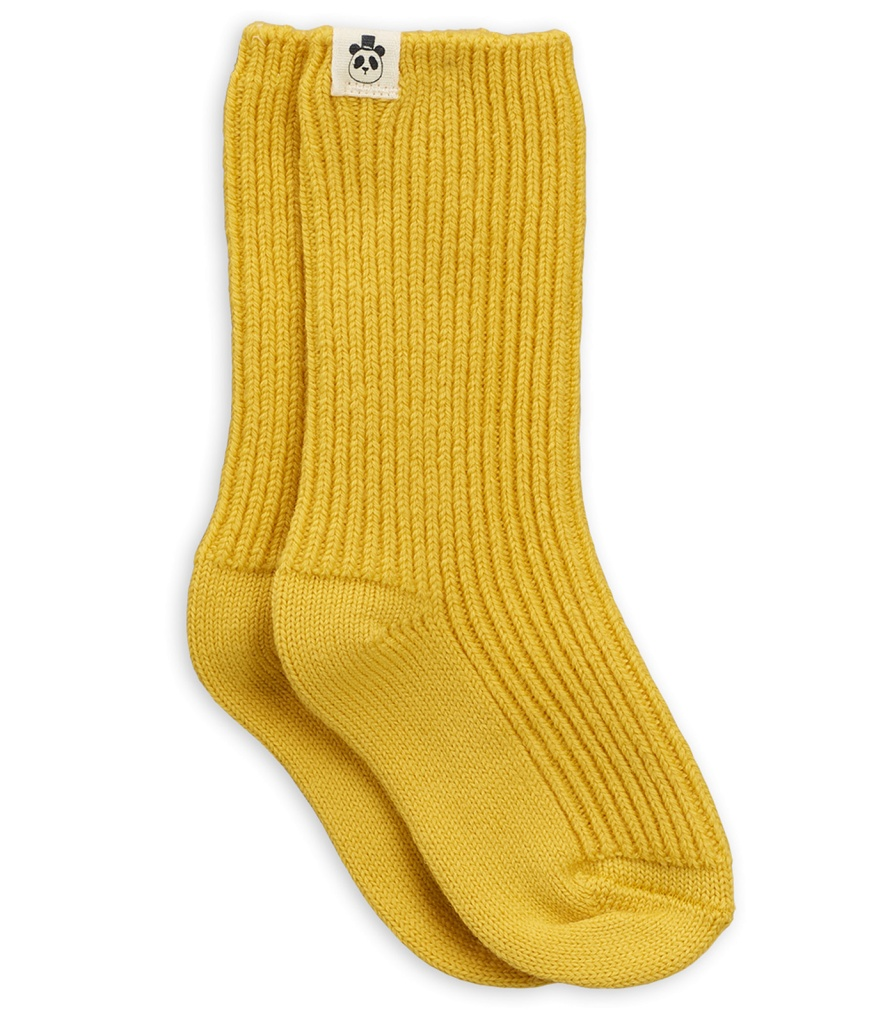 Strumpor Sock Wool Yellow