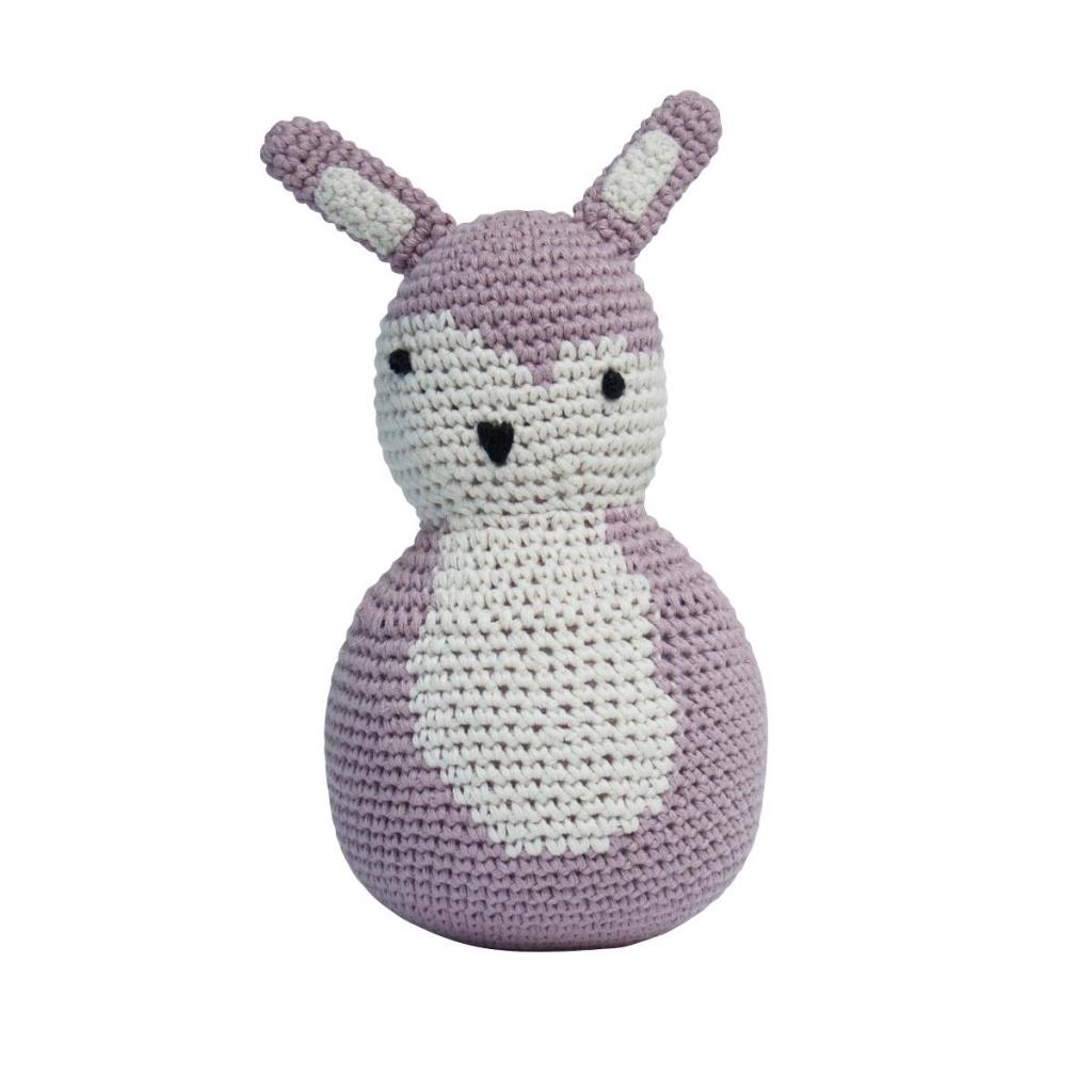 Rullskallra - rosa, kaninen Siggy