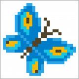 Diamond Dotz - tavla fjäril