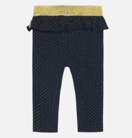 Leggings baby Laerke blå med guldprickar