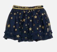 Kjol blå tyll m guldstjärnor