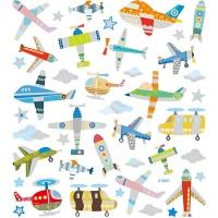 Klistermärken - Flygplan och Helikopter