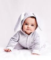 Cardigan Bunny Grey/White