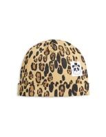 Basic leopard baby beanie