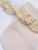 Strumpa Lace Socks pink