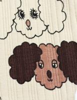 Leggings - Fluffy dog aop new born (beige)
