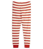 Leggings - röd och vitrandiga