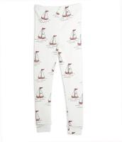 Leggings - Sailing boats white