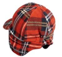 Keps vinterkeps - Fleece check (red)
