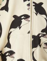 Tröja - Hoodie zip Orca offwhite