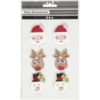 Klistermärken - Julfigurer 3D