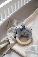 Skallra Elefanten Fanto classic grey
