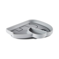 Tallrik - Silicone stick&stay plate, Elphee, grey