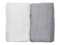 Muslin Blanket 2-pack Grå/Vit