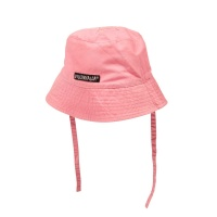 Solhatt med band - canvas fuchsia