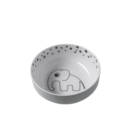 Skål - Happy dots, Yummi bowl, Grey