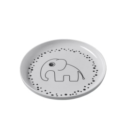 Tallrik - Happy dots, Yummi plate, Grey