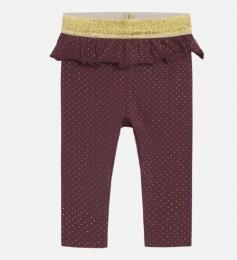 Leggings baby Laerke Mahogny med guldprickar