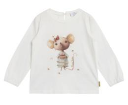 Tröja Astrid  med söt mus (Ivory)