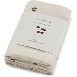 Filt - 3-pack muslin filtar - Cherry