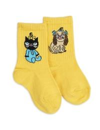 Strumpor - Minibaby socks white single Yellow