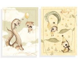 2-Pack kort - Dino & Friends (A6)