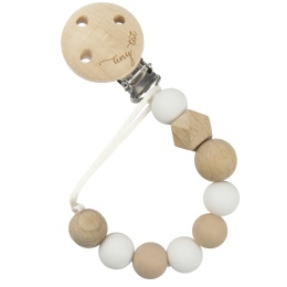Napphållare i trä - Vit/beige