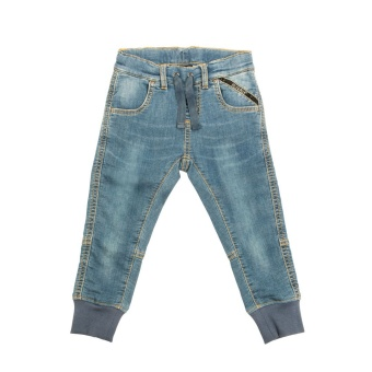 Mjukisjeans - Joggers sweat denim washed ink