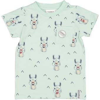 T-Shirt - Mint Lama, bamboo