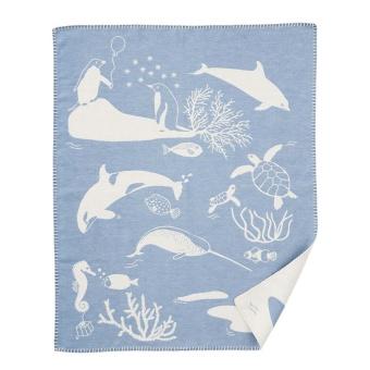 Bomullsfilt - Sealife Blå