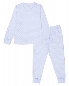 Pyjamas blå/silver prickar 2-delar