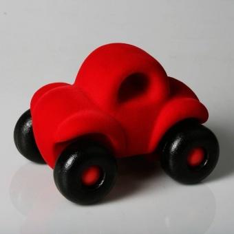 Bil i naturgummi - Röd