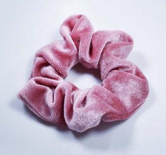 Hårsnodd Scrunchie Sammet Rosa
